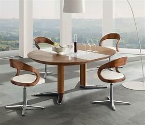 Luxury dining tables - TEAM 7 Girado - Wharfside dining