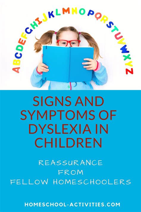 homeschool activities 865 | signs and symptoms of dyslexia