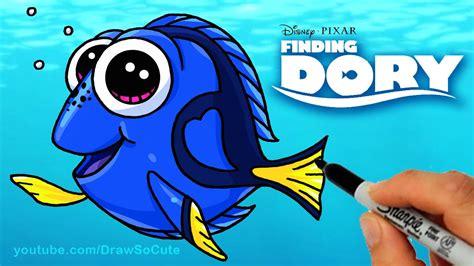 draw dory step  step cute  disney finding