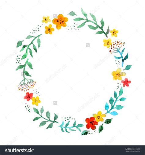 flower circle clipart   cliparts  images