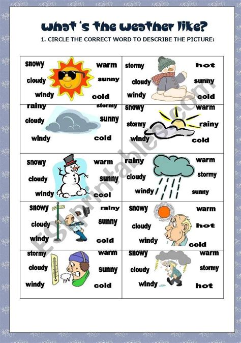 what 180 s the weather like esl worksheet by baby v