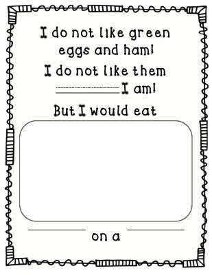 green eggs and ham freebie from perfectly preschool on 319 | 105109aa4e28ff90d00e5cbd1d63575b