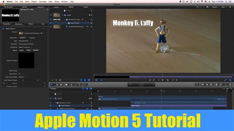 apple motion 5 tutorial text motion tracking match move youtube