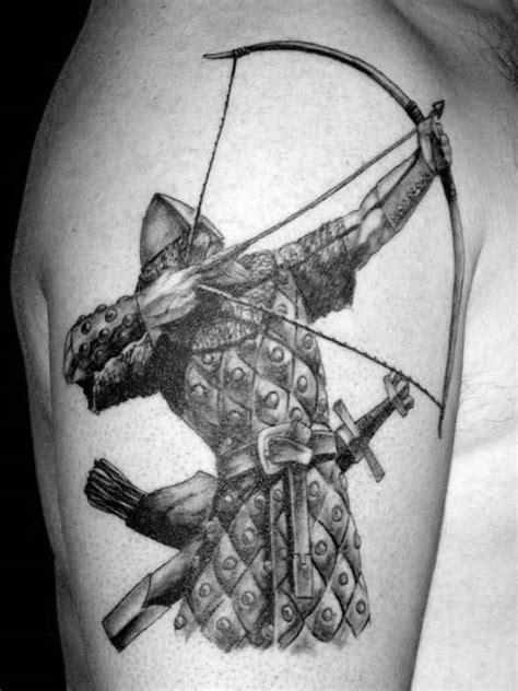 50 Archery Tattoos For Men - Bow And Arrow Designs