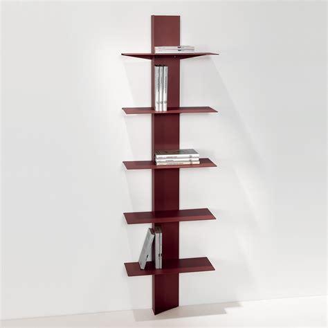 librerie a colonna libreria da parete in acciaio a colonna 45 x 160 cm lift