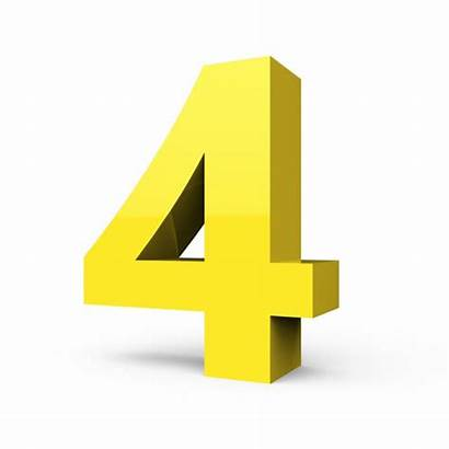 Number Yellow 3d Shiny Right Vector Depositphotos