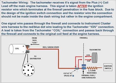 Tach Pickup Wire Freeautomechanic Advice
