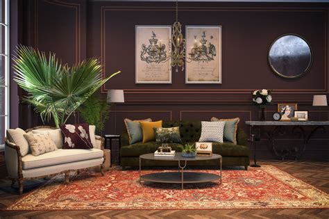 titanic inspired eclectic style living room