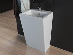 Stand Wc Eckig : design stand waschbecken waschtisch s ule kbe3 ebay ~ Markanthonyermac.com Haus und Dekorationen