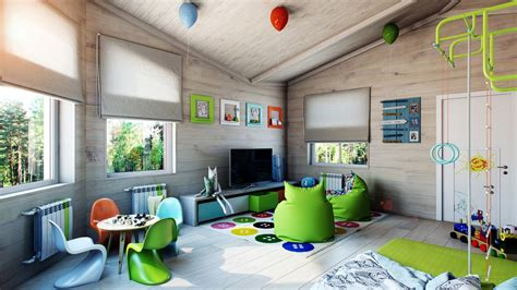 Bright And Colorful Kids Room Designs With Whimsical Artistic Features : Bright-green-kids-room