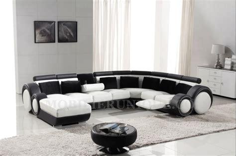 canapé d 39 angle panoramique en cuir avec reposepied intégré