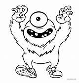Monster Coloring Printable Sheets Cool2bkids Worksheets sketch template