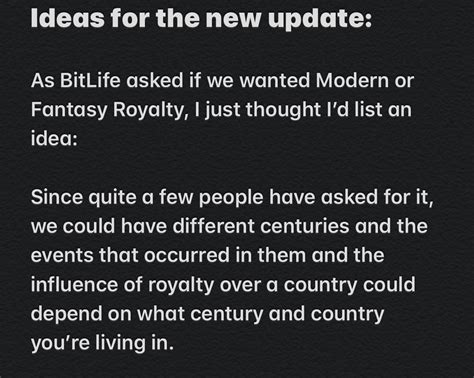 bitlife update incorporate eras idea different into bitlifeapp comments reddit