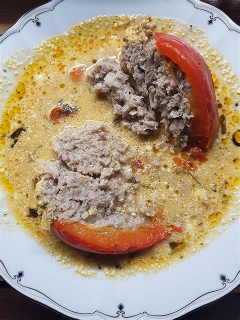 Ar maltu gaļu pildīti pipari   Ēdienu gatavošanas receptes ...