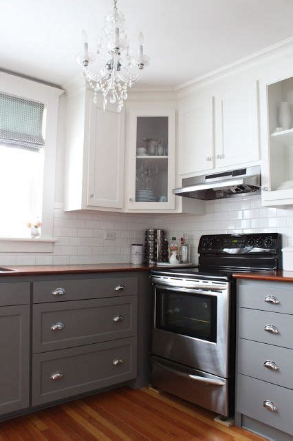 25 best ideas about two tone cabinets on two 570 88839525e12266605d6ea1817183e2d6