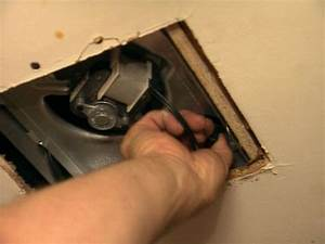 How to replace an exhaust fan how tos diy for Plug in bathroom exhaust fans