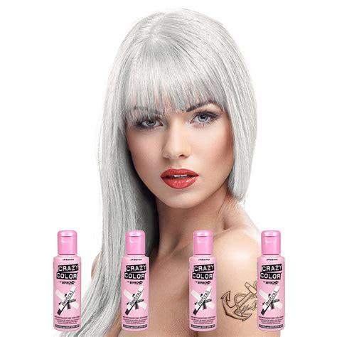 Crazy Color Neutral Semi Permanent White Plain Colour Hair