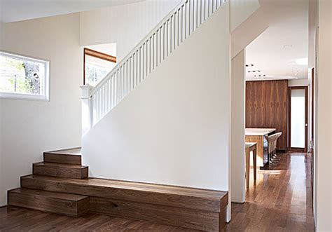 Stairs + Bench  The Extended Stair Into A Bench Is A