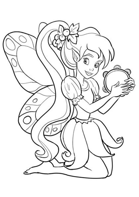 Free & Easy To Print Fairy Coloring Pages in 2020 Fairy
