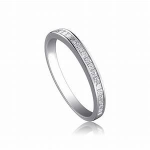 Affordable Half Carat Princess Cut Diamond Wedding Band