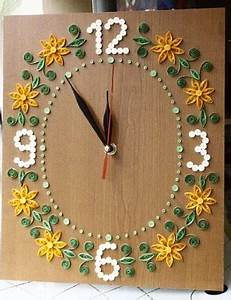 Papirvilag quilling faliora quilled wall clock for 3d quilling wall clock