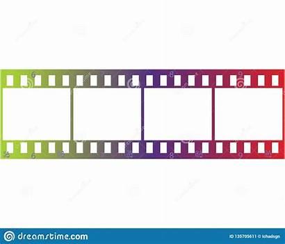 Filmstrip Template Stripes Roll