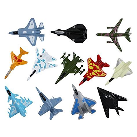 Airplane Toys Set Of 12 Die Cast Metal Military Themed
