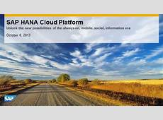 Introduction to SAP HANA Cloud Platform