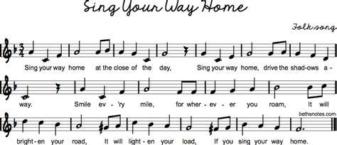 sing   home beths notes