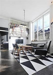 Black White Contemporary Loft In Stockholm Sweden