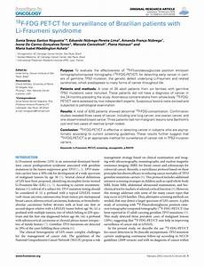 (PDF) 18F-FDG PET-CT for surveillance of Brazilian ...