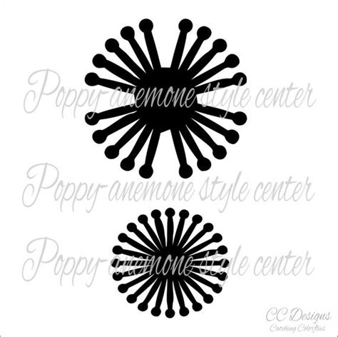 paper flower center template poppy anemone flower center svg cut files flower center add on by catching colorflies catch