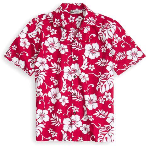 Red Hawaii   The Hawaiian Shirt Shop UK