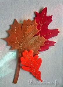Blätter Basteln Herbst : basteln im herbst basteln mit filz filz blaetter ~ Lizthompson.info Haus und Dekorationen