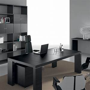 Bureau Plan De Travail : 5 bureaux modernes aux finitions noires blog amm mobilier ~ Preciouscoupons.com Idées de Décoration
