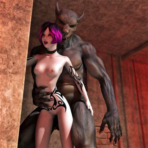 Hottie Fucks Hard With Vampire Bat World Of Porncraft 3d