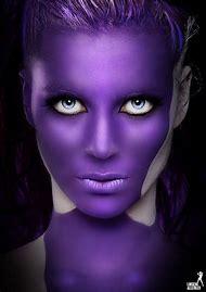 Purple Witch Face Paint
