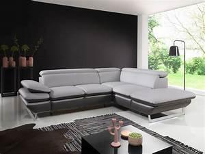 Canapé D Angle Cuir Conforama : canap convertible prestige limon argent sb meubles discount ~ Farleysfitness.com Idées de Décoration