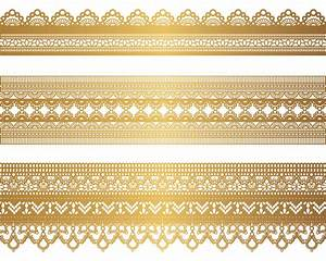 free vector Gold lace pattern 04 vector | vektor ...