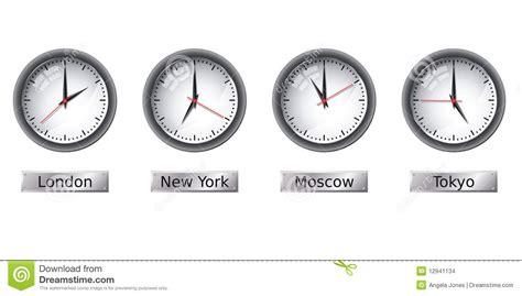 time zone clocks stock vector illustration needle