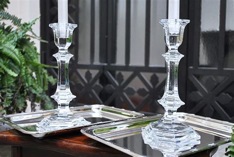 candelieri in cristallo baccarat quot harcourt quot coppia candelieri in cristallo 23