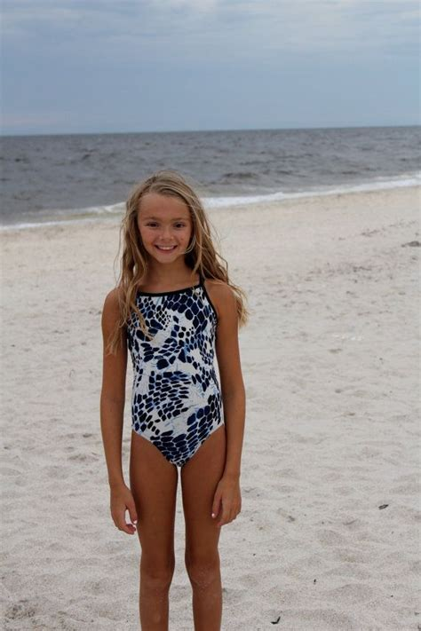 thin strap racerback python print girls swimsuit girls