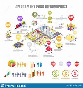 Amusement Park And Playground Vector Flat Isometric