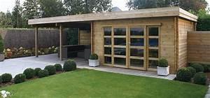 emejing pavillon de jardin moderne contemporary amazing With sauna de jardin en bois