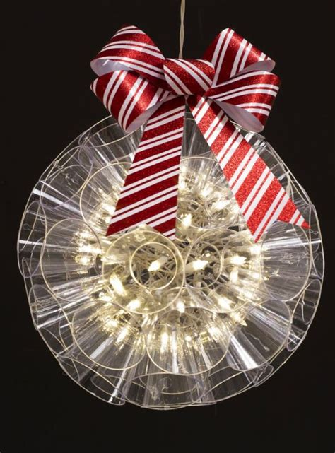 christmas lights decorations  plastic cups