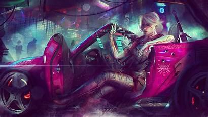 Ciri 4k Background Cyberpunk 2077 Desktop Character