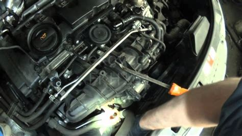 audi p   fsi thermostat housing removal youtube