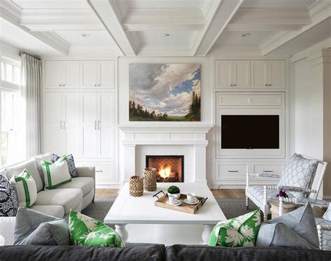 Decorating Ideas Next To Fireplace by Tv Fireplace Design Ideas