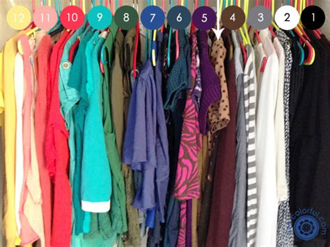 Colorful Closet by Organizing Your Closet By Color Live Colorful