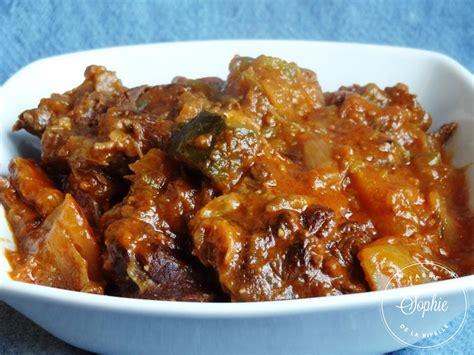 plats simple a cuisiner ragoût de boeuf aux gombos la tendresse en cuisine